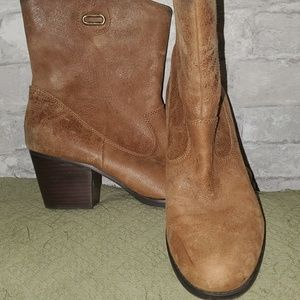 FINAL SALE! Bandolino Brown Leather Heel Boots